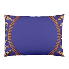 Frame Of Leafs Pattern Background Pillow Case by Simbadda