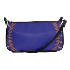 Frame Of Leafs Pattern Background Shoulder Clutch Bags