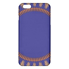 Frame Of Leafs Pattern Background Iphone 6 Plus/6s Plus Tpu Case by Simbadda