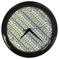 Abstract Seamless Background Pattern Wall Clocks (black) by Simbadda