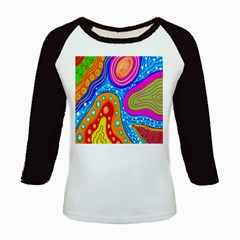 Hand Painted Digital Doodle Abstract Pattern Kids Baseball Jerseys