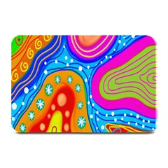 Hand Painted Digital Doodle Abstract Pattern Plate Mats by Simbadda