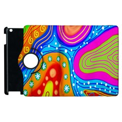 Hand Painted Digital Doodle Abstract Pattern Apple Ipad 3/4 Flip 360 Case