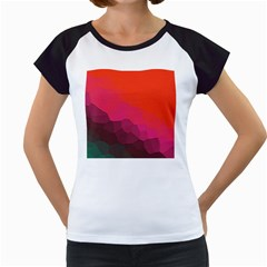 Abstract Elegant Background Pattern Women s Cap Sleeve T