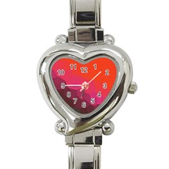 Abstract Elegant Background Pattern Heart Italian Charm Watch by Simbadda