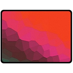 Abstract Elegant Background Pattern Double Sided Fleece Blanket (large)  by Simbadda