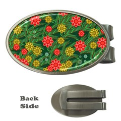 Completely Seamless Tile With Flower Money Clips (oval)