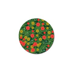 Completely Seamless Tile With Flower Golf Ball Marker by Simbadda