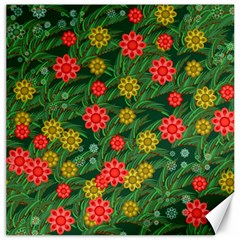 Completely Seamless Tile With Flower Canvas 16  X 16   by Simbadda