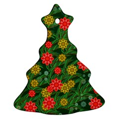 Completely Seamless Tile With Flower Ornament (christmas Tree)  by Simbadda