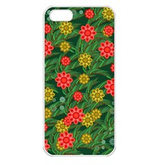 Completely Seamless Tile With Flower Apple Iphone 5 Seamless Case (white)