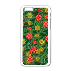 Completely Seamless Tile With Flower Apple Iphone 6/6s White Enamel Case by Simbadda