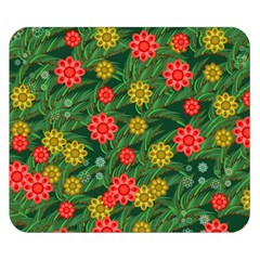 Completely Seamless Tile With Flower Double Sided Flano Blanket (small)  by Simbadda