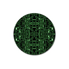 An Overly Large Geometric Representation Of A Circuit Board Magnet 3  (round)