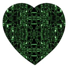 An Overly Large Geometric Representation Of A Circuit Board Jigsaw Puzzle (heart) by Simbadda