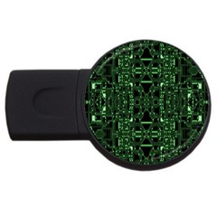 An Overly Large Geometric Representation Of A Circuit Board Usb Flash Drive Round (4 Gb) by Simbadda