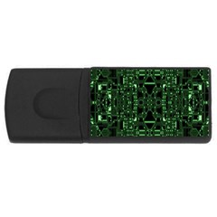 An Overly Large Geometric Representation Of A Circuit Board Usb Flash Drive Rectangular (4 Gb) by Simbadda