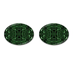 An Overly Large Geometric Representation Of A Circuit Board Cufflinks (oval) by Simbadda