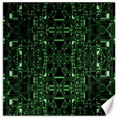An Overly Large Geometric Representation Of A Circuit Board Canvas 12  X 12   by Simbadda