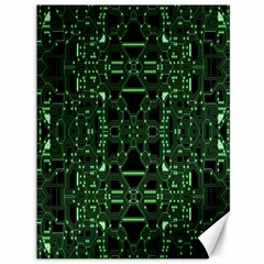 An Overly Large Geometric Representation Of A Circuit Board Canvas 36  X 48   by Simbadda