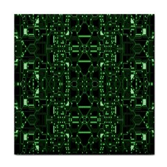 An Overly Large Geometric Representation Of A Circuit Board Face Towel by Simbadda