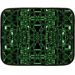 An Overly Large Geometric Representation Of A Circuit Board Fleece Blanket (mini) by Simbadda