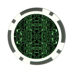 An Overly Large Geometric Representation Of A Circuit Board Poker Chip Card Guard (10 Pack) by Simbadda