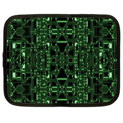 An Overly Large Geometric Representation Of A Circuit Board Netbook Case (xxl)  by Simbadda
