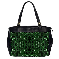 An Overly Large Geometric Representation Of A Circuit Board Office Handbags (2 Sides)  by Simbadda