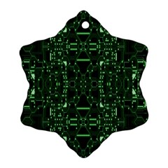 An Overly Large Geometric Representation Of A Circuit Board Snowflake Ornament (two Sides) by Simbadda