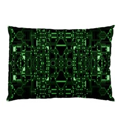 An Overly Large Geometric Representation Of A Circuit Board Pillow Case (two Sides) by Simbadda