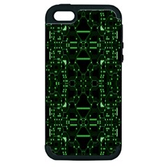 An Overly Large Geometric Representation Of A Circuit Board Apple Iphone 5 Hardshell Case (pc+silicone) by Simbadda