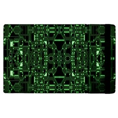 An Overly Large Geometric Representation Of A Circuit Board Apple Ipad 2 Flip Case