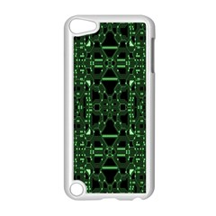 An Overly Large Geometric Representation Of A Circuit Board Apple Ipod Touch 5 Case (white) by Simbadda