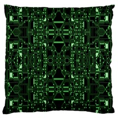 An Overly Large Geometric Representation Of A Circuit Board Large Flano Cushion Case (one Side) by Simbadda