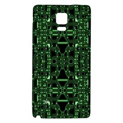 An Overly Large Geometric Representation Of A Circuit Board Galaxy Note 4 Back Case by Simbadda
