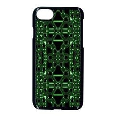 An Overly Large Geometric Representation Of A Circuit Board Apple Iphone 7 Seamless Case (black)