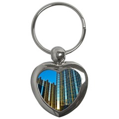 Two Abstract Architectural Patterns Key Chains (heart)