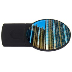 Two Abstract Architectural Patterns Usb Flash Drive Oval (2 Gb)