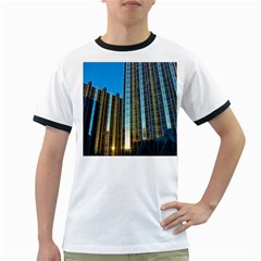 Two Abstract Architectural Patterns Ringer T Shirts by Simbadda