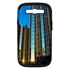 Two Abstract Architectural Patterns Samsung Galaxy S Iii Hardshell Case (pc+silicone) by Simbadda