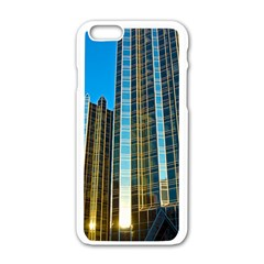 Two Abstract Architectural Patterns Apple Iphone 6/6s White Enamel Case by Simbadda