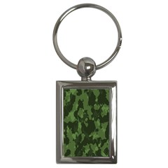 Camouflage Green Army Texture Key Chains (rectangle)  by Simbadda