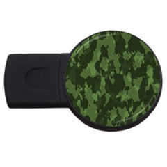 Camouflage Green Army Texture Usb Flash Drive Round (4 Gb) by Simbadda