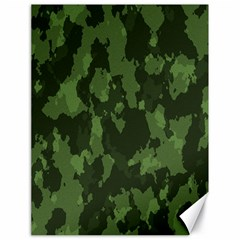 Camouflage Green Army Texture Canvas 18  X 24   by Simbadda