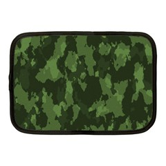 Camouflage Green Army Texture Netbook Case (medium)  by Simbadda