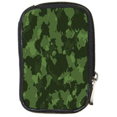 Camouflage Green Army Texture Compact Camera Cases by Simbadda