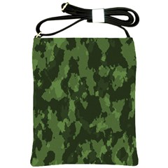 Camouflage Green Army Texture Shoulder Sling Bags by Simbadda