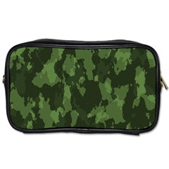 Camouflage Green Army Texture Toiletries Bags by Simbadda