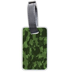 Camouflage Green Army Texture Luggage Tags (two Sides)